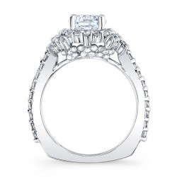 Halo Engagement Ring 7979L Profile