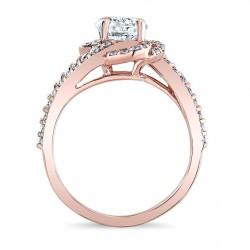 Rose Gold Engagement Ring 7982LP Profile