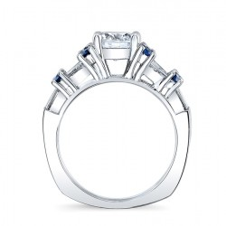Blue Sapphire Engagement Ring 7985LBS Profile