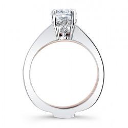 White & Rose Gold Bridal Set 7988ST Profile