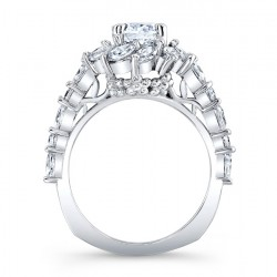 Marquise Engagement Ring 7992L Profile
