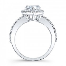 White Gold Pear Shaped Engagement Ring 8061L Profile