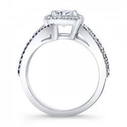 Cushion Cut Engagement Ring 8005LBS Profile