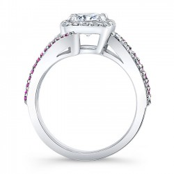 Pink Sapphire Engagement Ring 8005LPS  Profile