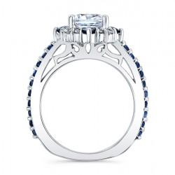 Blue Sapphire Bridal Set 8006SBS Profile