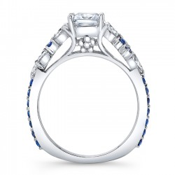 Blue Sapphire Engagement Ring 8012LBS Profile