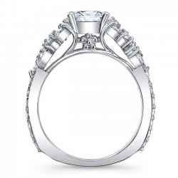 Princess Cut Engagement Ring 8012L Profile