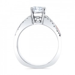 Rose Gold Engagement Ring 8016LT Profile