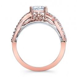 Rose Gold Engagement Ring 8018LT Profile