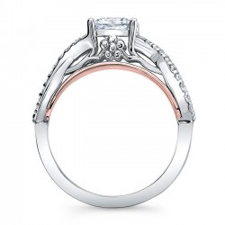 Princess Cut Engagement Ring 8018LTRV profile
