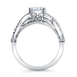 Princess Cut Engagement Ring 8018L Profile