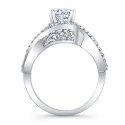 Diamond Engagement Ring 8020L Profile