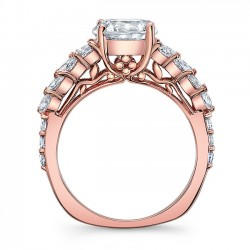 Unique Rose Gold Engagement Ring 8022LP Profile