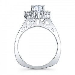 Halo Engagement Ring 8026L Profile