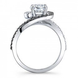 Black Diamond Engagement Ring 8031LBK Profile
