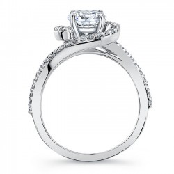 Halo Engagement Ring 8031L Profile