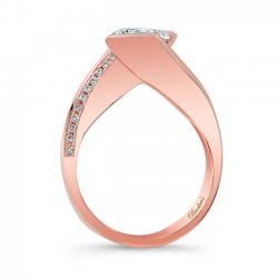 Princess Cut Engagement Ring 8032LP Profile