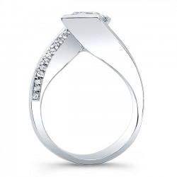 Princess Cut Engagement Ring 8032L Profile