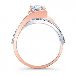 Rose Gold Engagement RIng 8033LTT Profile