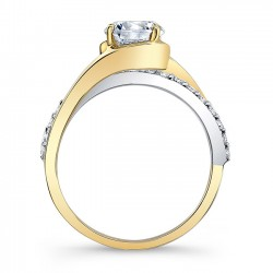 Yellow & White Gold Engagement Ring 8033LTY Profile