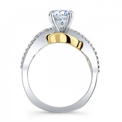 Yellow & White Gold Engagement Ring 8036LT Profile