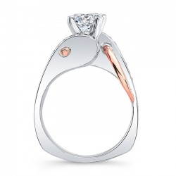 Unique Diamond Engagement Ring 8038LTPRV Profile