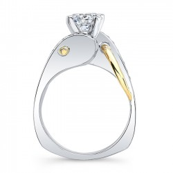 Unique Diamond Engagement Ring 8038LTYRVProfile