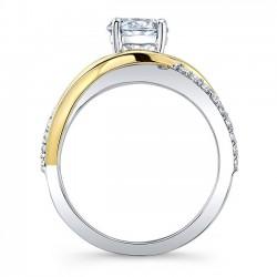Unique Diamond Engagement Ring 8040LT Profile