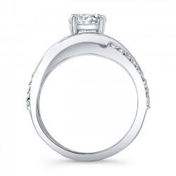 Unique Diamond Engagement Ring 8040L Profile