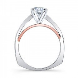 Two Stone Engagement Ring 8043LTP Profile