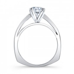 White Gold Engagement Ring 8043L Profile