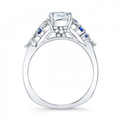 Blue Sapphire Engagement Ring 8044SBS Profile