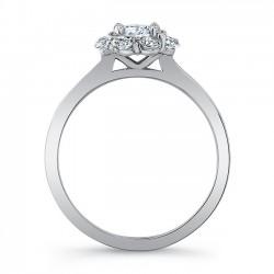 White Gold Bridal Set 8054S Profile