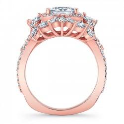 Rose Gold Engagement Ring 8057LP Profile
