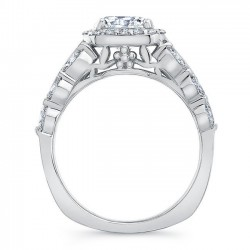 White Gold Engagement Ring 8059L Profile