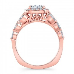 Rose Gold Engagement Ring 8059LP Profile
