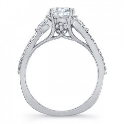 White Gold Engagement Ring 8060L Profile