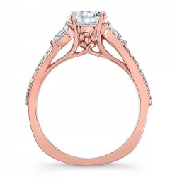 Rose Gold Engagement Ring 8060LP Profile