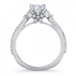 White Gold Engagement Ring 8062L Profile