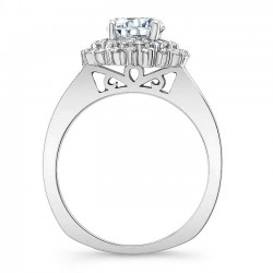 White Gold Engagement Ring 8063L Profile