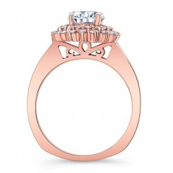 Rose Gold Engagement Ring 8063LP Profile