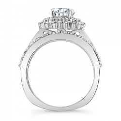 White Gold Bridal Set 8063S Profile