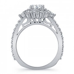 White Gold Engagement Ring 8065L Profile
