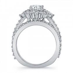 White Gold Bridal Set 8065S Profile
