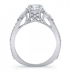 White Gold Engagement Ring 8066L Profile