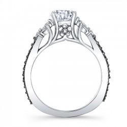 Black Diamond Engagement Ring 8066LBK Profile