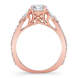 Rose Gold Engagement Ring 8066LP Profile