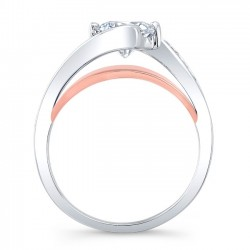 Rose and White Gold Engagement Ring 8069LT Profile