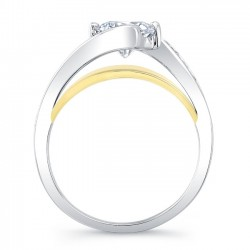 Yellow and White Gold Engagement Ring 8069LTY Profile