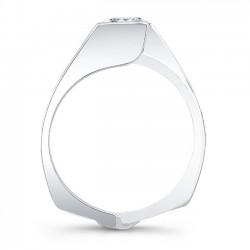 White Gold Princess Cut Bridal Set 8070S Profile